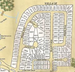 Travelers Rest RV Resort Village Map