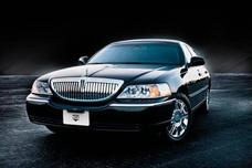 Black Lincoln Town Car Executive