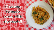 Creamy Tomato Orzo with Spinach Recipe, Noreen's Kitchen