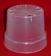 clear plastic orchid pot 5.5 inch holes UV McConkey