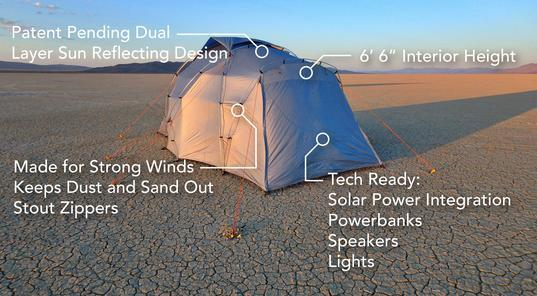 The No Bake Tent on the Playa in the Black Rock Desert