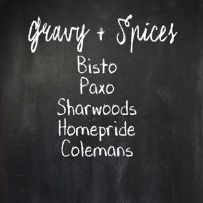 Gravy and Spices: Bisto, Paxo, Sharwoods, Homepride, Colemans
