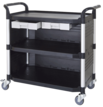 largest drawer utility carts, lab trolley manufacturer Taiwan, plastic utility carts factory, 2-tier utility carts, 2-tier service cart