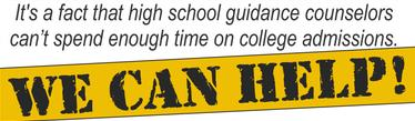 High school guidance counselors college admissions