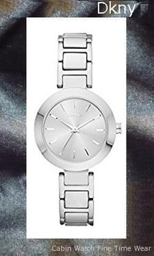 Product specifications Watch Information Brand, Seller, or Collection Name DKNY Model number NY2398 Part Number NY2398 Model Year 2017 Item Shape Round Dial window material type Mineral Display Type Analog Clasp deployant-clasp Case material Stainless steel Case diameter 28 millimeters Case Thickness 9 millimeters Band Material Stainless steel Band length Women's Standard Band width 8 millimeters Band Color Silver Dial color Silver Bezel material Stainless steel Bezel function Stationary Calendar Date Special features measures-seconds Item weight 5.28 Ounces Movement Analog quartz Water resistant depth 165 Feet