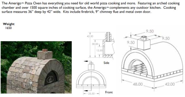 Stoneage Amerigo Brick Oven, Masonry Oven, Outdoor Pizza Ovem