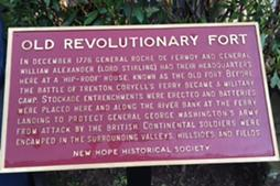Old Revolutionary Fort Plaque, New Hope Historical Society