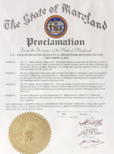 Proclamation from State of Maryland to Maryland tax attorney Charles Dillon