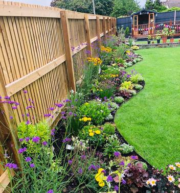 Fencing, Planting and fire pit in Frome