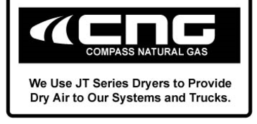 JT Series Refrigerated Compressed Air Dryers are used by Compass Natural Gas to provide dry air to their systems and trucks.