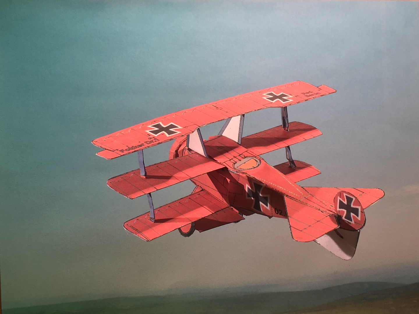 4D paper airplane - Model Template, Model Template, Wwi Aircraft