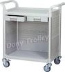 plastic shelving hospital trolley, service carts, clinic utility carts