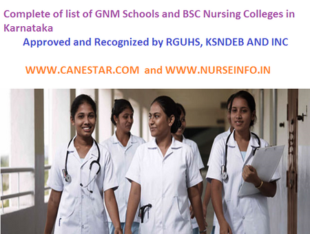 GNM Schools, approved by KSNDEB and INC