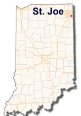 State Map, Town of St. Joe, Indiana
