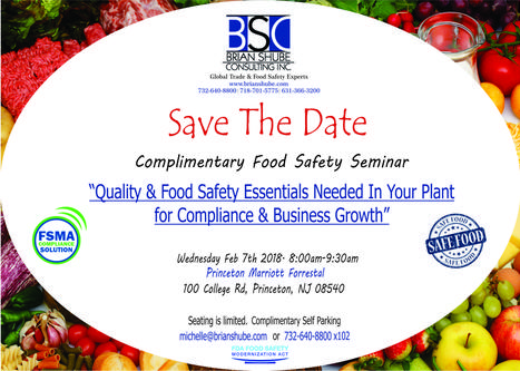 Brian Shube Consulting | Food Safety , health inspections , food labeling , HAACP , Food Safety Seminar