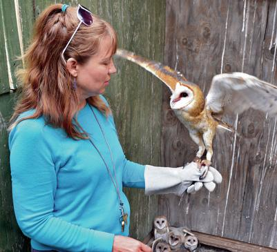 Lori Paras, Executive Director of the San​ta Fe Raptor Center