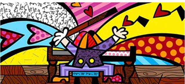 Romero Britto The Piano