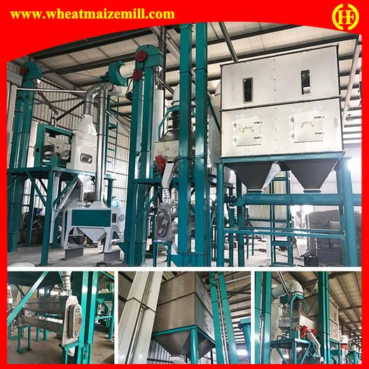 installed 120 ton maize flour production line in China