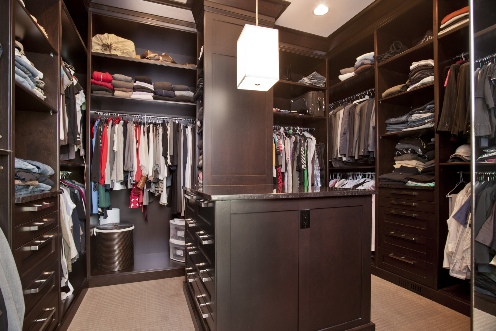Master Bedroom Closet luxury master bedroom closet | scott arthur millwork & cabinetry