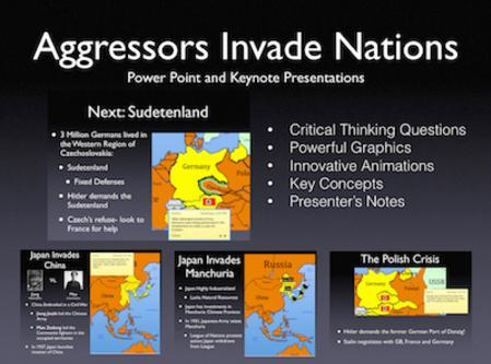 Aggressors Invade Nations PowerPoint