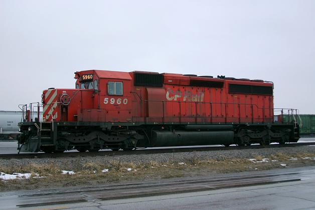Canadian Pacific Railway No. 5960, an EMD SD40-2.