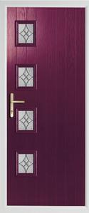 4 square rebate composite door in purple