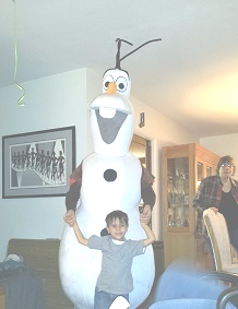 Olaf, hire Frozen Snowman Party Character