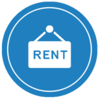 blue rental logo button