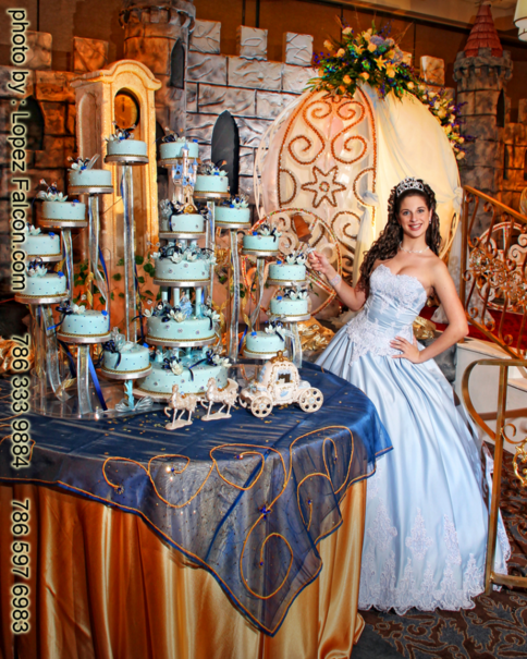 quinceanera party miami cinderella cake photography theme video dresses