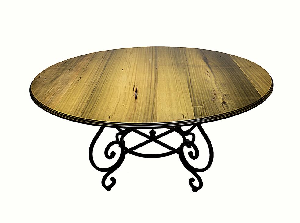 Reclaimed Wood Round Dining Table Whittington Gallery