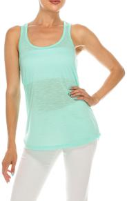 440PS 100% Polyester Slub Racer Back Tank Top