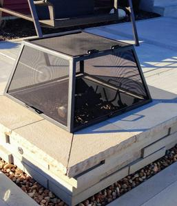 alt=fire pit square spark screen""