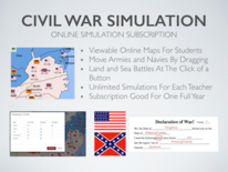 Civil War Simulation Online Platform