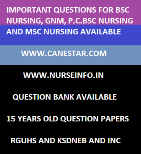 gnm community health nursing II important questions ksdneb