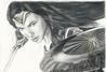 "Wonder Woman ""Gal Gadot""; 11""x14"" Graphite pencil with Prismacolor color accents on Bristol"