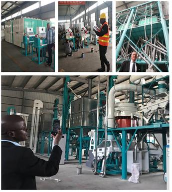 visit China to see 120 tons maize flour milling machines