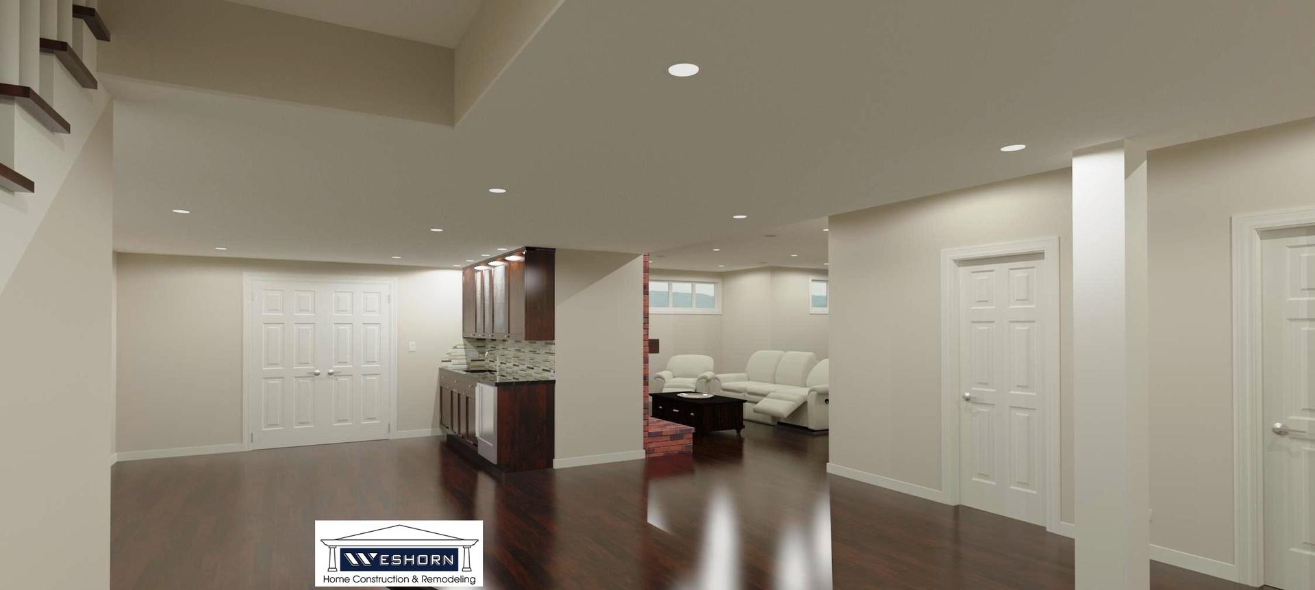 Basement Finishing Remodeling Design Wheaton IL Weshorn Basement - Bathroom remodeling wheaton il