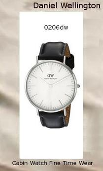 Product Specifications Watch Information Brand, Seller, or Collection Name Daniel Wellington Model number 0206DW Part Number DW00100020 Model Year 2014 Item Shape Round Dial window material type Mineral Display Type Analog Clasp Buckle Metal stamp Stainless steel Case material Stainless steel Case diameter 40 millimeters Case Thickness 6 millimeters Band Material Genuine-leather Band length Men's Standard Band width 20 millimeters Band Color Black Dial color White Bezel material Stainless steel Bezel function Stationary Calendar Date Special features Second hand Item weight 2.40 Ounces Movement Quartz Water resistant depth 99 Feet,daniel wellington