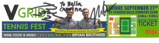 Bryan Brothers Tennis Fest 2013