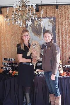 Katherine Griffon with FEI Dressage Trainer Meagan Davis