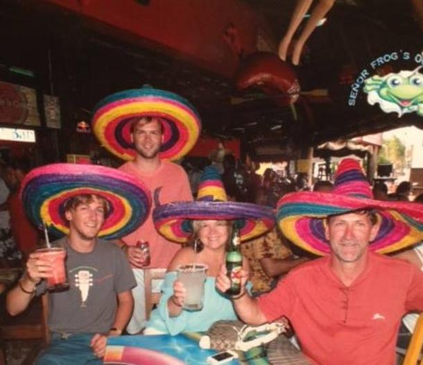 Debby Wayne and Family in Mexico