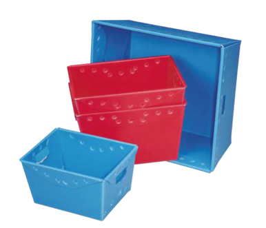 Corrugated Plastic Material Handling Totes Nesting