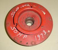 223-2402A3, A5, A6, A10, A13 Used flywheel for a 1973 50 hp Mercury outboard motor. 223-2402A3, A5, A6, A10, A13