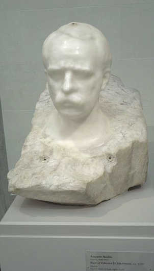 Bust of Edward H. Harriman by Auguste Rodin.