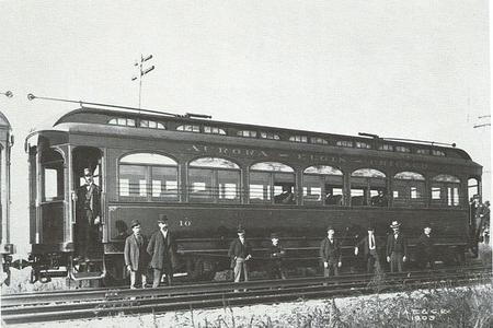 Car 10 during an inspection on August 4, 1902. The first ten cars were assigned even numbers from 10 to 28.