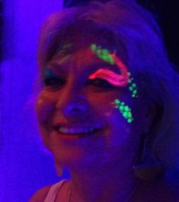 Black light Face Painting for all ages