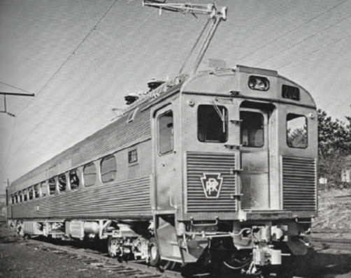 Budd Pioneer III, or Silverliner I. Budd Company photo.