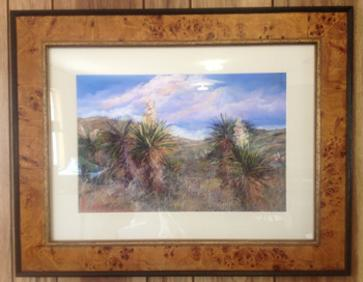 Lindy Severns enhanced print matted and framed under museum grade acrylic.