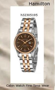 Watch Information Brand, Seller, or Collection Name Hamilton Model number H32305195 Part Number H32305195 Item Shape Round Dial window material type Anti reflective sapphire Display Type Analog Clasp Deployment clasp with push-button Case material Two-tone steel Case diameter 33 millimeters Case Thickness 10 millimeters Band Material Two-tone stainless steel Band length Men's Standard Band width 17 millimeters Band Color Silver Dial color Black Bezel material Gold tone Bezel function Stationary Calendar Date Special features Second hand, Luminous Movement Swiss automatic Water resistant depth 165 Feet,hamilton watch