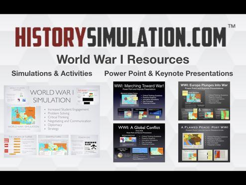 World War 1 Simulations, Activities and Presentations